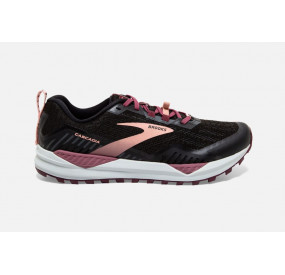 BROOKS CASCADIA 15 WOMEN BLACK/EBONY/CORAL CLOUD