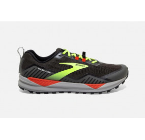 BROOKS CASCADIA 15 MEN BLACK/RAVEN/CHERRY TOMATO