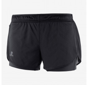 SALOMON AGILE 2IN1 SHORT WOMEN BLACK