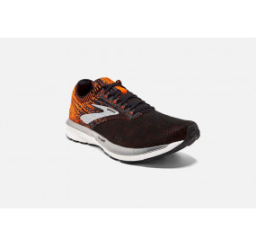 BROOKS RICOCHET MEN BLACK/ORANGE/EBONY