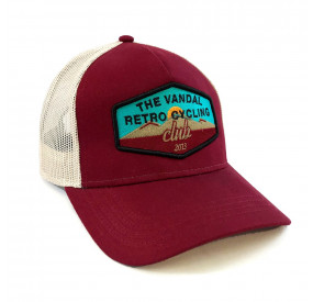 THE VANDAL - RETRO CYCLING CLUB COTTON TRUCKER CAP - BORDEAUX