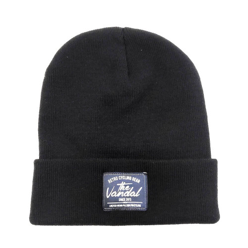 THE VANDAL - RETRO CYCLING GEAR BEANIE - BLACK