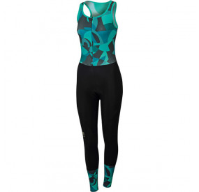 SPORTFUL PRIMAVERA BIBTIGHT WOMEN - BLACK/TURQUOISE