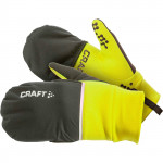 CRAFT HYBRID WEATHER GLOVE MEN - BLACK/SAFETY YELLOW