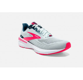 BROOKS LAUNCH GTS 8 WOMEN - ICE FLOW/NAVY/PINK