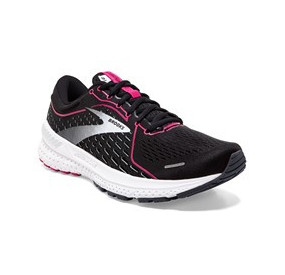 BROOKS ADRENALINE GTS 21 WOMEN - BLACK/RASPBERRY SORBET/EBONY