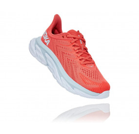 HOKA ONE ONE CLIFTON EDGE WOMEN HOT CORAL/WHITE