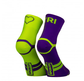 SPORCKS SOCKS - SIX SECONDS YELLOPW PURPLE