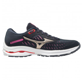 MIZUNO WAVE RIDE 24 WOMEN - INDIAINK/PGOLD/IGNITIONR