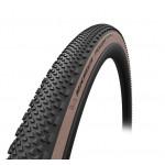 "pneu Michelin Power Gravel TS 28"" 700x47C 47-622 nr/marron Skin TS TLR"