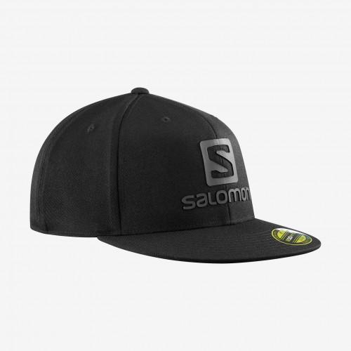 SALOMON - LOGO CAP FLEXFIT - BLACK