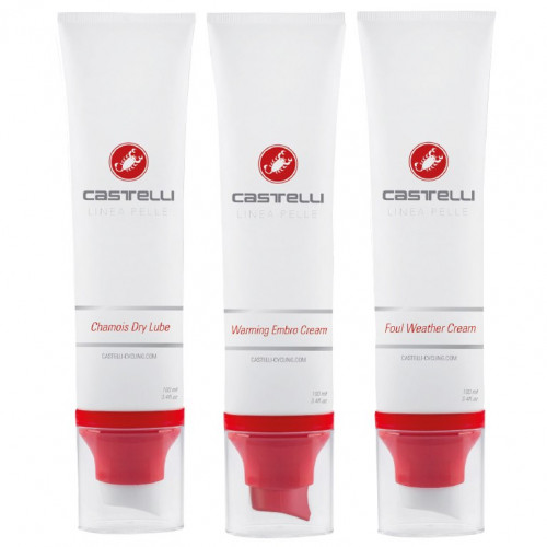 CASTELLI - CREAM PACK X3 - FOUL WEATHER CREAM / EMBRO CREAM / CHAMOIS DRY LUBE CREAM
